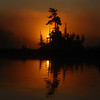 Sunrise (shot from canoe while fishing) - Pickerel Lake - Quetico P. P.